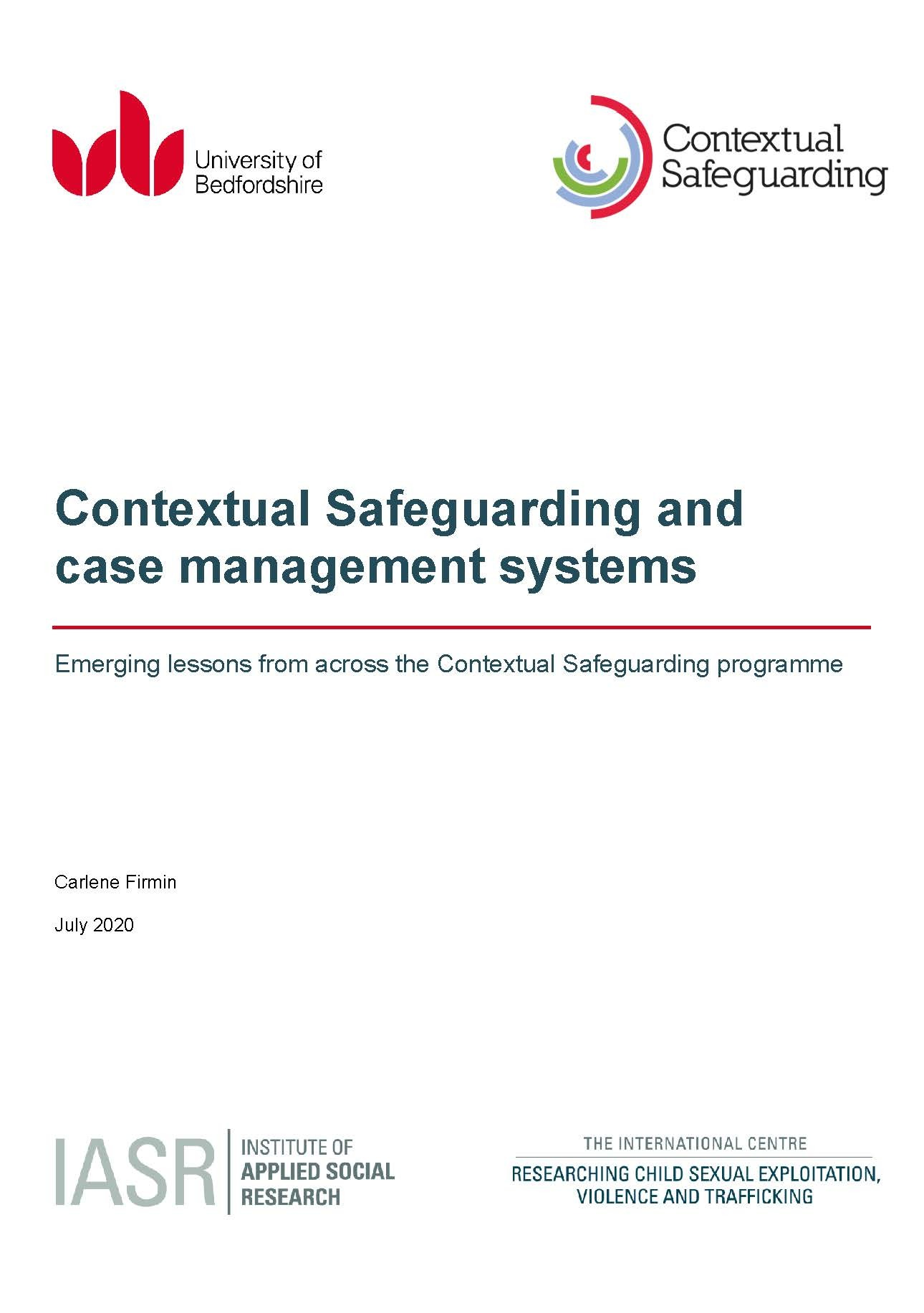 Contextual Safeguarding and case management systems