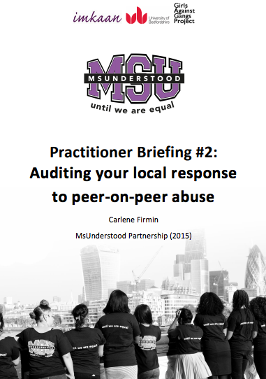 Auditing your local response to peer-on-peer abuse